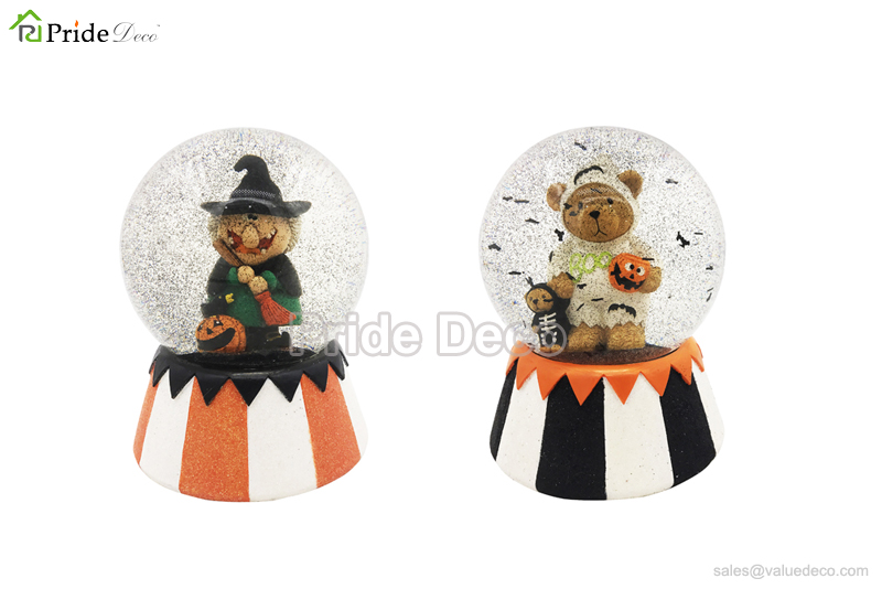 hdwg0029 halloween figures glitter globe
