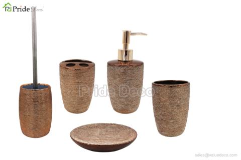 BAST0071 (Metallic Ceramic Bath Accessory Set)